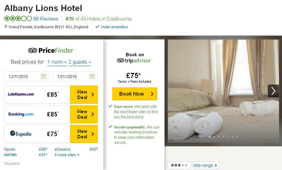 Albany Lions Hotel Tripadvisor Price Finder