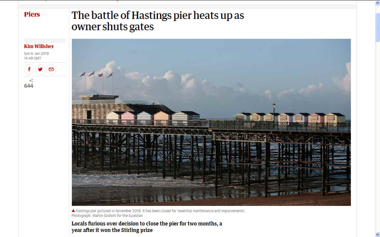 HASTINGS BATTLE OF THE PIER CLOSURE OPENING TIMES