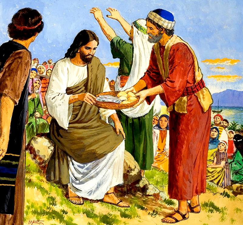 feeding of the 5000 jesus christ Feeding the 5,000 (matthew 14: 13-21) and the feeding of  before feeding the 5,000, jesus was exhausted  people came from all over to receive christ,.