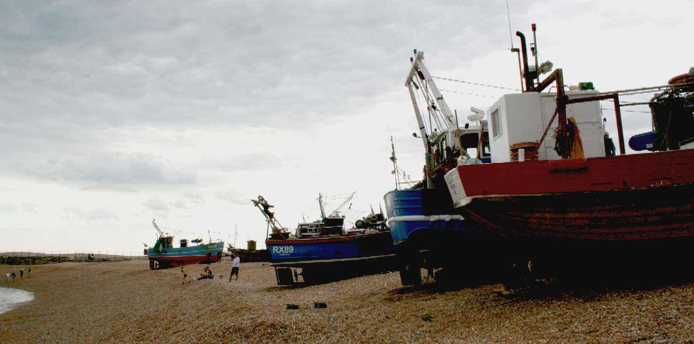 The largest beach launched fishing fleet dormant on Hastings beaches